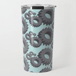 Mechanical cogwheels in 3D Travel Mug