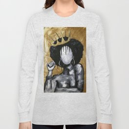 Naturally Queen GOLD Long Sleeve T-shirt