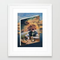 introvert Framed Art Prints featuring Introvert by Nick Marchese