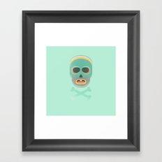 pastel skullington Framed Art Print