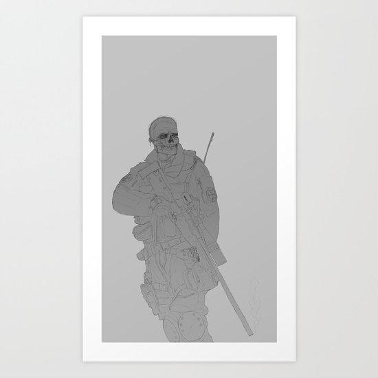 Zombie Sniped Art Print