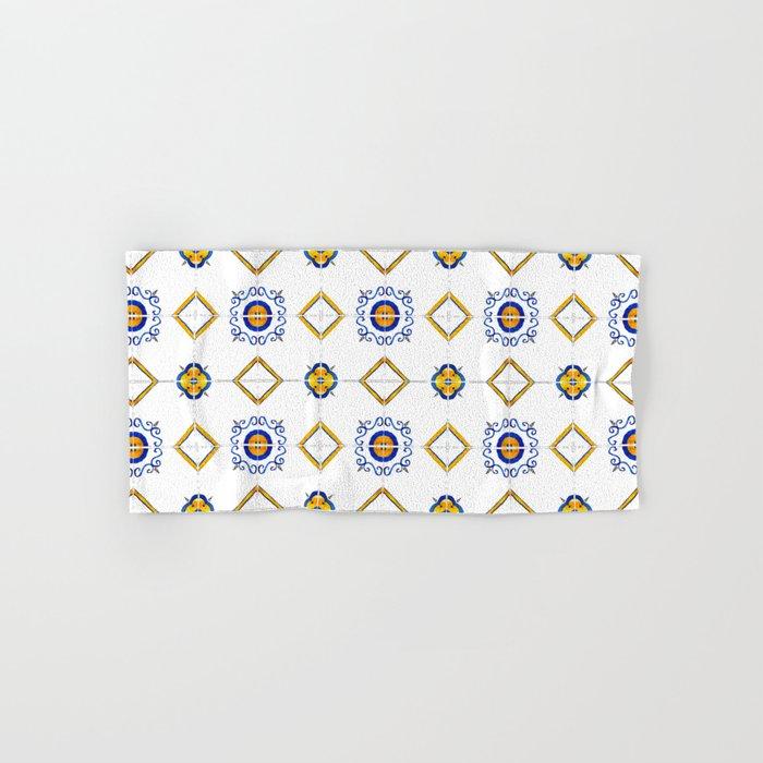 Majolica pattern Hand & Bath Towel