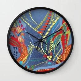 Abstract Stripes Wall Clock