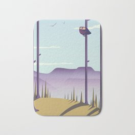 Owl in the woods Bath Mat