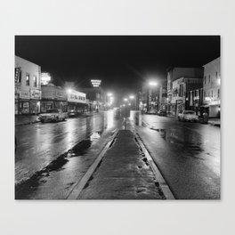 Black & White Street Canvas Print
