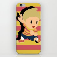 smash bros iPhone & iPod Skins featuring Lucas Super Smash Bros by jeice27
