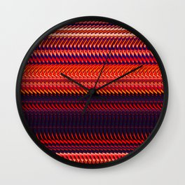 Rag Weave by Chris Sparks Wall Clock