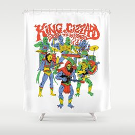 king gizzard and the lizard wizard Shower Curtain
