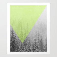 NEON NATURE | Green Art Print