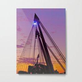 The hungerford Bridge At Dusk Metal Print