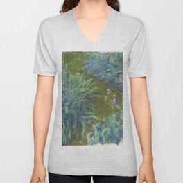 Irises by Claude Monet Unisex V-Neck