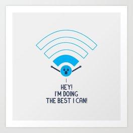 Angry Wifi Art Print