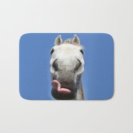 Horse Licks Photography Print Bath Mat