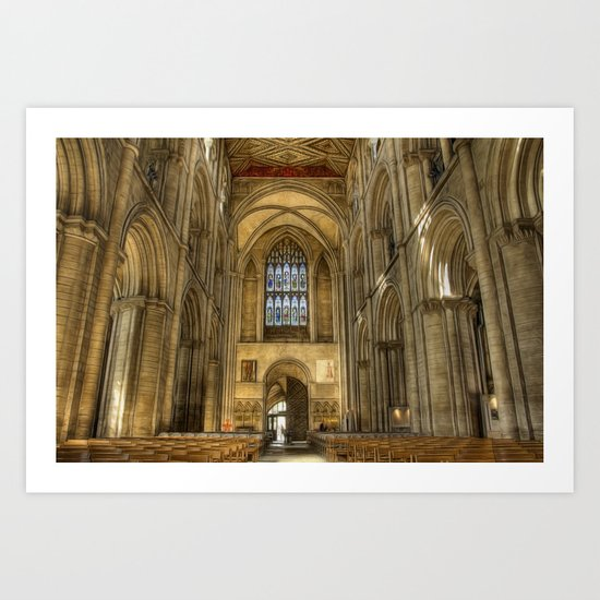 Peterborough Cathedral Arches Art Print