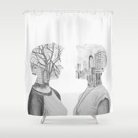 silhouette Shower Curtains featuring Silhouette by Kim Leutwyler