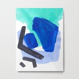 Ocean Torrent Whirlpool Teal Turquoise Blue Metal Print