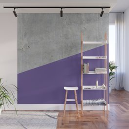 Concrete with Ultra Violet Color Wall Mural