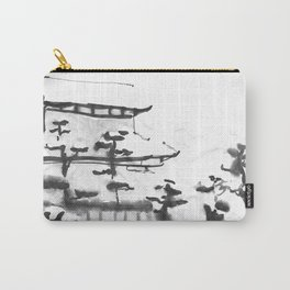 Traditional Japanese house in snow Carry-All Pouch