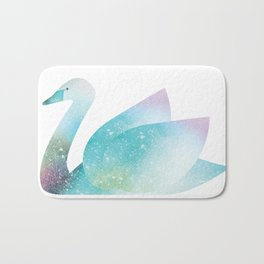 Magical Swan (Flower Petals) Bath Mat