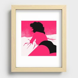 Rearview Recessed Framed Print