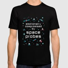 Emotionally Compromised by Space Probes Black MEDIUM Mens Fitted Tee