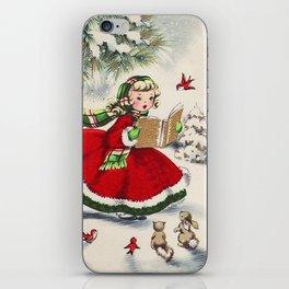 Vintage Christmas Girl iPhone Skin