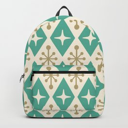 Mid Century Modern Atomic Triangle Pattern 105 Backpack