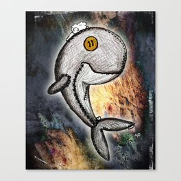 Woody the Whale Canvas Print