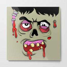 Cartoon Zombie face Metal Print