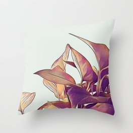 Pothos in pink Throw Pillow