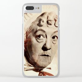 Margaret Rutherford Clear iPhone Case