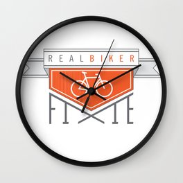 Real Biker Wall Clock
