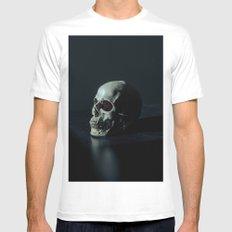 skull White MEDIUM Mens Fitted Tee