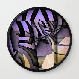 Grammatology Of A Zebra Wall Clock