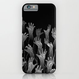 Halloween Horror Zombie Hand Pattern iPhone Case