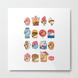 Puglie Food Collection 3 Metal Print