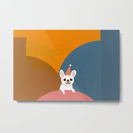 Little_French_Bulldog_LOVE_PARTY_Minimalism_001 Metal Print