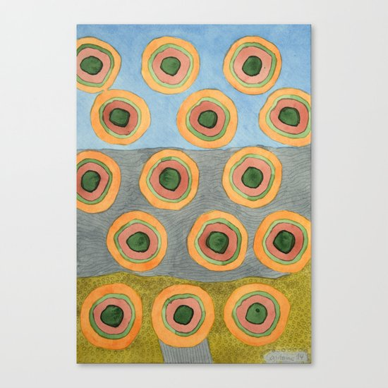 Circles in Front of the Beach Canvas Print