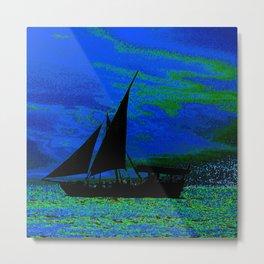 Ocean Silhouette Metal Print