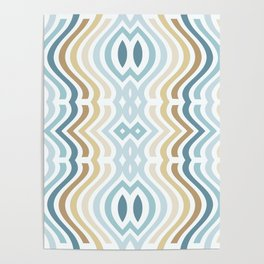 Groovy Cool Stripes Poster