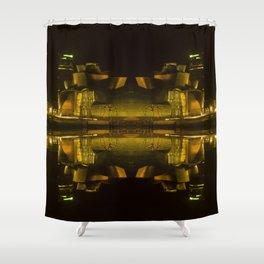 Abstract Guggenheim Shower Curtain