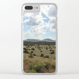 Under Wide Open Skies Clear iPhone Case