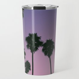 Purple Sunset Palm Trees Travel Mug