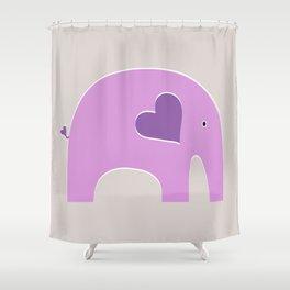 Lavender Elephant Shower Curtain