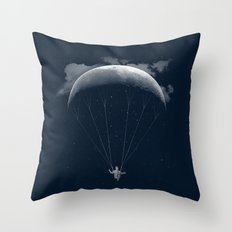 Parachute Moon Throw Pillow
