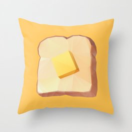 Toast with Butter polygon art Throw Pillow