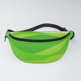Waves - Lime Green Fanny Pack