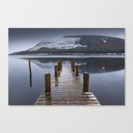 Scottish Loch and Jetty. Canvas Print