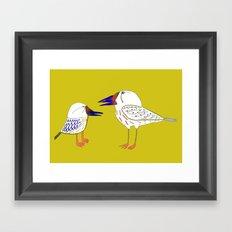 Birds, bird print, bird illustration, kids art, childrens art, Framed Art Print