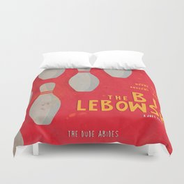 The Big Lebowski - Movie Poster, Coen brothers film, Jeff Bridges, John Turturro, bowling Duvet Cover